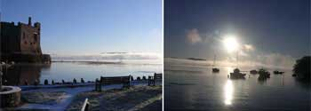 Various images over Laugharnes historic castle and estuary.